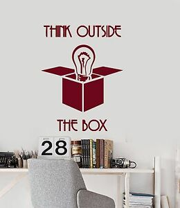 Wall Vinyl Decal Quotes Words Inspire Think Out Of The Box Office