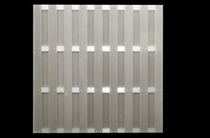 180x180cm Wpc Sichtschutzelemente Grau Aluminium Jinan Serie