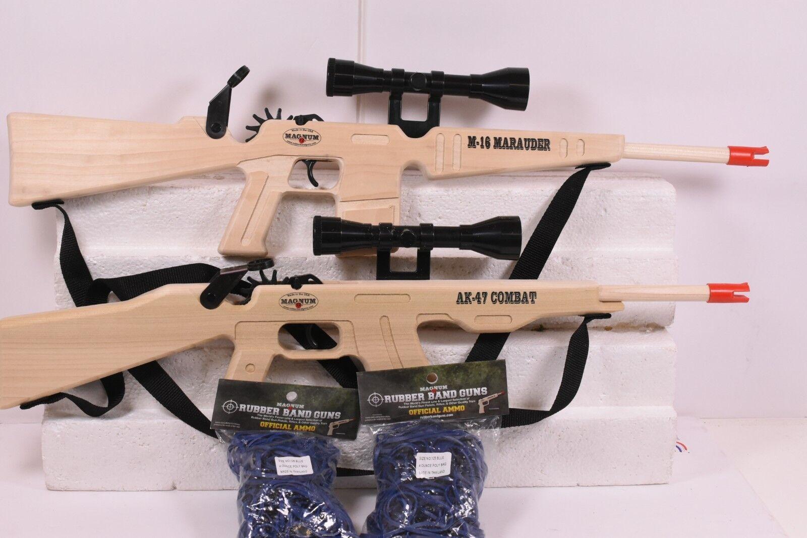 Magnum Rubber Gun gl2ak47ss gl2ak47ss gl2ak47ss gl2m16mss AK - 47 vs M - 16 combo plus ammmo 5f3
