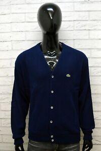 Lacoste-Uomo-Maglione-Taglia-3XL-Blu-Felpa-Sweater-Cardigan-Pullover-Big-Size