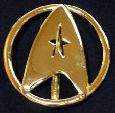 Star Trek Federation Uniform Deluxe Gold Belt Buckle-Movies II-VI Uniform