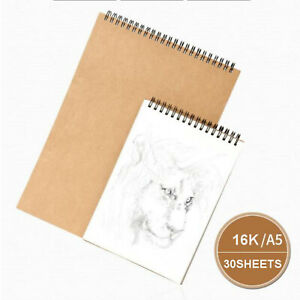 30-Sheets-Paper-Sketch-Book-Set-A5-16K-For-Watercolor-Drawing-Art-Sketchbook
