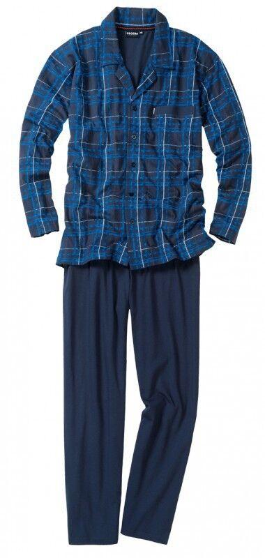 Ceceba Pyjama lang blau durchgeknöpft Übergrößen 58 68/70 80 Neu