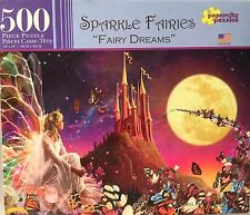 "New Lovely Sparkle Fairies Fairy Dreams 500ps Jigsaw Puzzle Sealed 14"" x 18"""