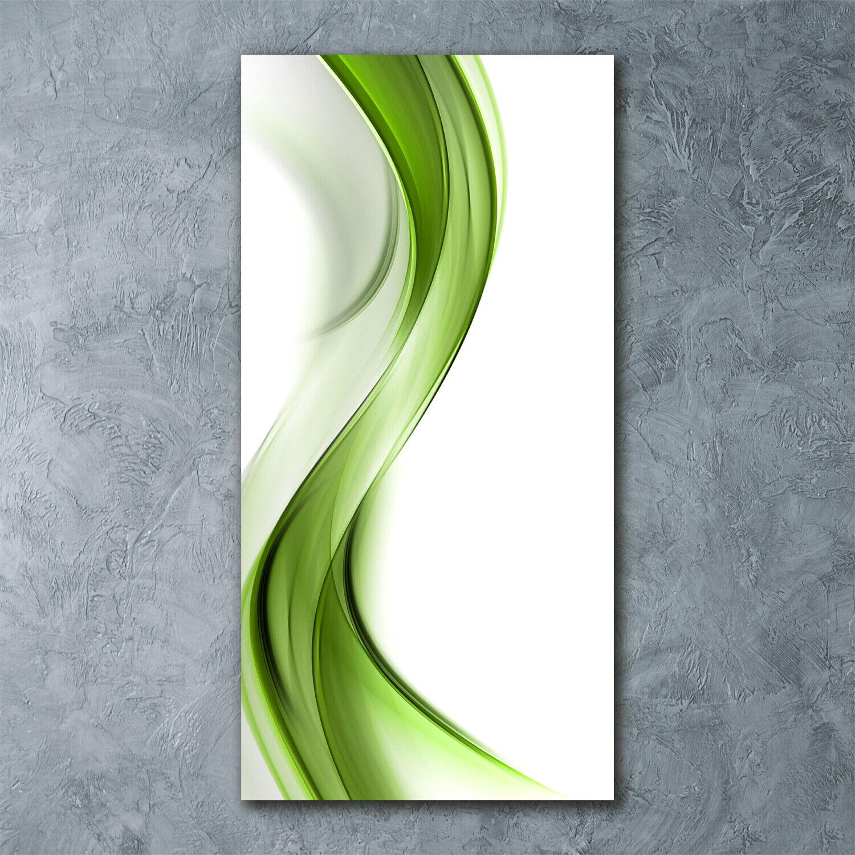 Wand-Bild Kunstdruck aus Hart-Glas Hochformat 60x120 Abstrakte Welle
