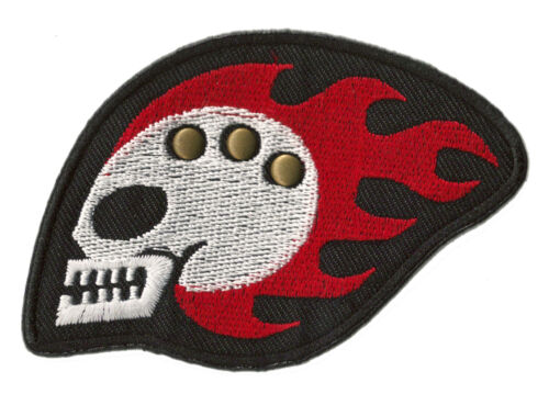 ECUSSON patche BIKER SKULL thermocollable patch DIY transfert brodé