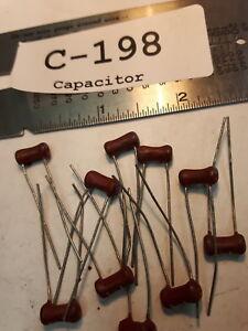 5/% Lot of 10 Capacitor Ceramic RMC C39 NPO NOS 1KV 130 pF