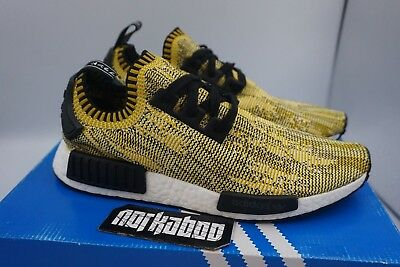 Adidas NMD R1 PK Premeknit Yellow Gold Camo SAMPLE S42131 | eBay