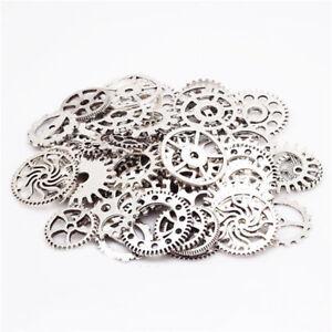 Necklaces & Pendants Zahnrad Mix Zahnräder Schmuck Anhänger Steampunk Gothic Basteln Kette Silber Nd3