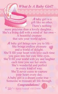 wallet card what is a baby girl keepsake sentimental gift present