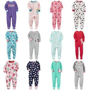 c27a0df0b Carters NWT 6 12 18 24 Month 2T 3T 4T 5T Footed Fleece Pajama Baby ...