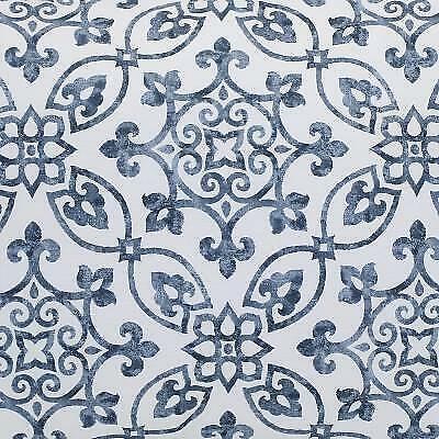 White//Navy Egyptian Cotton Percale Print New 1 Sferra GLYNN Boudoir Sham
