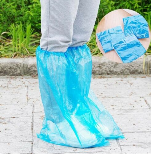 3 Pairs Disposable Rain Polypropylene Waterproof Shoe Boot Cover Over Protective