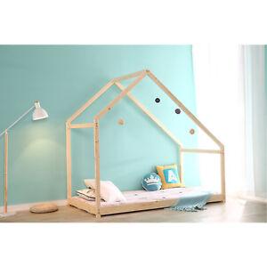 Ordinaire Details About Children House Frame Bed Floor Platform Wood Kids Bed Tent  Bedroom Furniture NEW