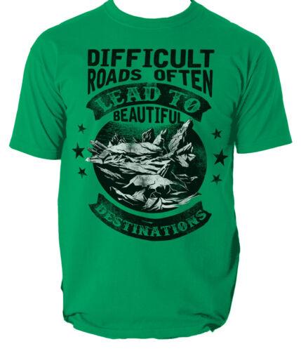 Difficult Roads t shirt adventure nature mountain S-3XL