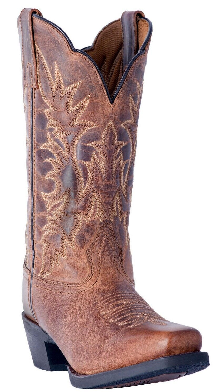 Larojoo Malinda 01-51134-BN97 11  Para Mujer De Cuero Cuero Cuero Marrón Tostado botas De Vaquero d4fd4b