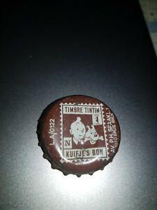 1 capsule Cork Tin-Tin tintin Brown Belgique Old Bottle Caps...années 60 s