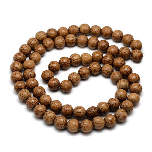 """31.4/"""" Strd Unique Natural Coconut Wood Beads Round Loose Beads Crafting 11~12mm"""