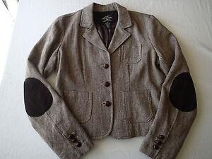 bottoni Elbow Blend lana Lauren Sz Herringbone L Ralph Jeans Patches I Brown wfgI1A77Rq