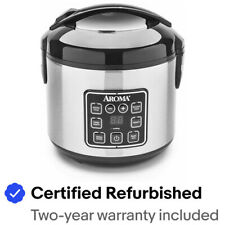 Aroma 8C Digital Cool-Touch Rice Cooker and Food Steamer-Certified Refurbished