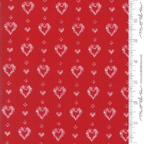 19 NORDIC STITCHES RED HEARTS FABRIC NO