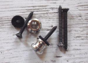 Schaller-Seguridad-Bloqueo-Replacement-Conjunto-botones-tornillos-Niquel