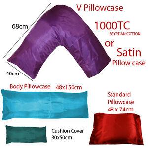 V-Shaped-Tri-Boomerang-Pillow-with-Satin-or-1000TC-Egyptian-Cotton-Pillowcase