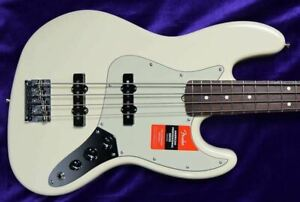 Fender AM PRO Jazz Bass, Olympic White / Rosewood *Factory Cosmetic Flaw, FULL W