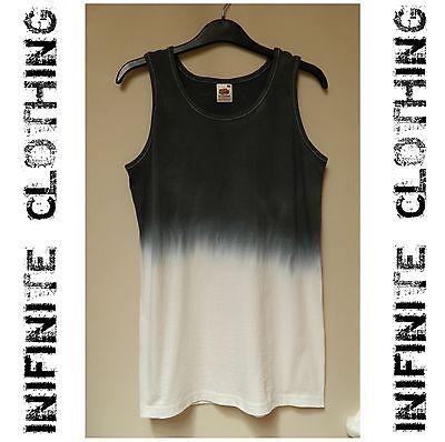 Tie dye vest tank top acid wash sleeveless t shirt vtg Retro hipster dip dye 80s