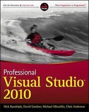 Professional Visual Studio 2010 by David Gardner, Michael Minutillo, Nick Randolph and Chris Anderson (2010, Paperback)