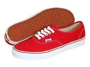 Details about *New Men's Vans Authentic Skate/Casual Shoes - Red*