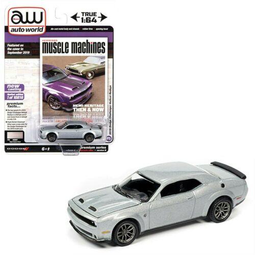 2019 Dodge Challenger Hellcat Redeye Silver*RR* Auto World Hemmings 1:64 NEU+OVP