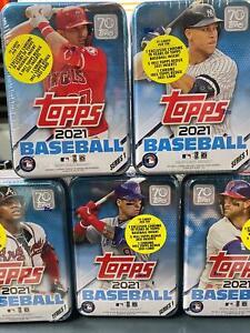 2021 Topps Series 1 MLB Baseball RANDOM Tin Trading Cards SEALED NEW