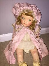 """Early Antique Vintage Horsman Flirty Eyes Composition Mama Baby Doll 22"""" Pink"""