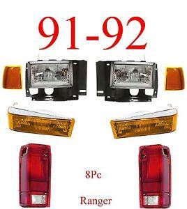 Image Is Loading 91 92 Ford Ranger 8pc Head Light Kit