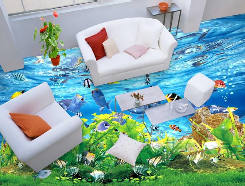 3D Marine Fish 437 Floor WallPaper Murals Wall Print 5D AJ WALLPAPER AU Lemon