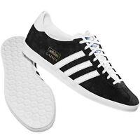 New Mens Adidas Gazelle Originals OG Black/  White Suede Trainers 6 7 8 9 10 11