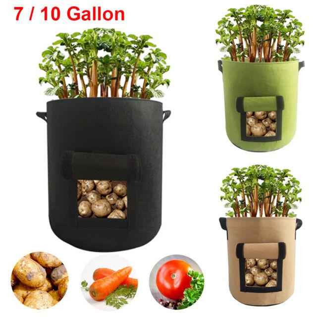 7 Gallons Potato Planting Bag Pot Planter Growing Gardening Grow Container US