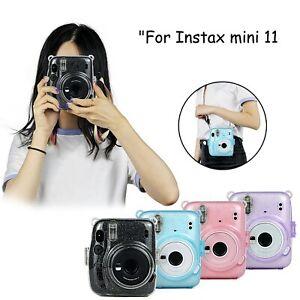 Für instax mini11 transparente Gouache Kameratasche Schultergurt Schutzhülle