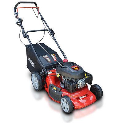 """Frisky Fox 20"""" Self Propelled 5.5HP 4 Stroke 4 in 1 Petrol Lawn Mower 173cc"""