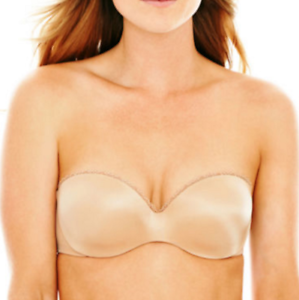 4672cd687e93b Ambrielle 34C Nude Multiway Push Up Seamless Underwire Strapless Bra ...