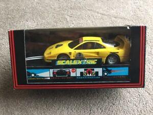 New Boxed Ferrari F40 Yellow Bridgestone Race Car Scalextric MB  Deleted C450