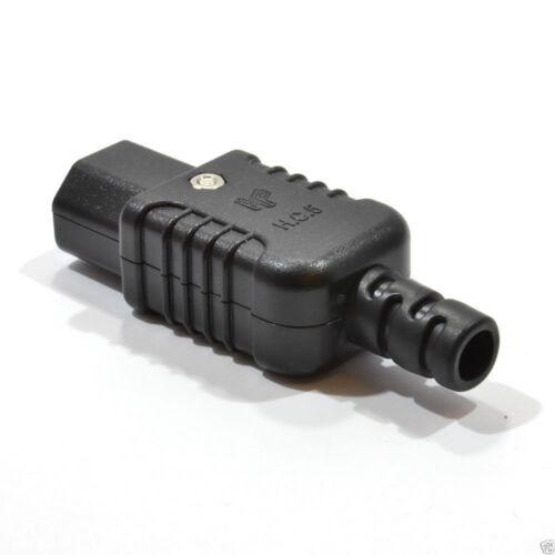007753 Heavy Duty Rewireable IEC C13 Female Inline Socket Plug 10A 250V