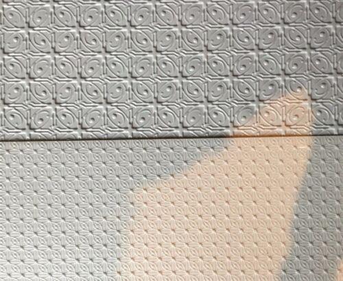 1//12th casa delle bambole foglio di plastica in rilievo