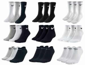 Nike-Socks-3-Pairs-Mens-Womens-Crew-Ankle-Liner-Cotton-Sports-Socks-Size-UK-2-14