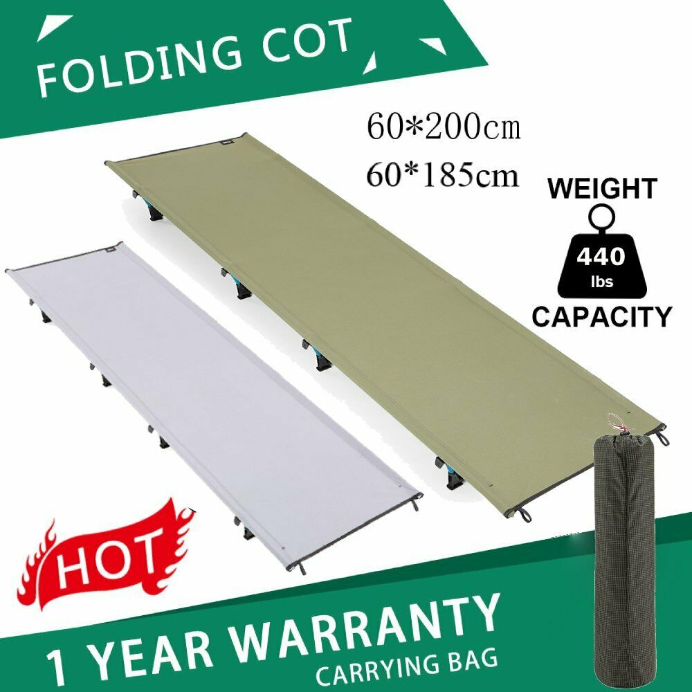 Portable Heavy Duty Folding Camping Cot Military  Bed Tent Outdoor  440 lbs BE  high quality