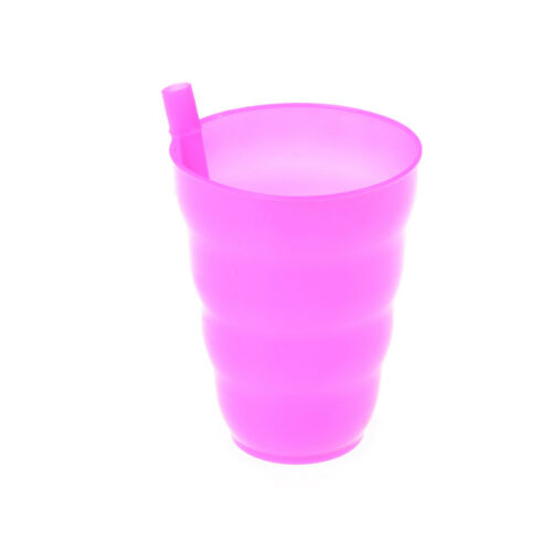 Kids Children Infant Baby Sip Cup with Built in Straw Mug Drink Solid Feeding