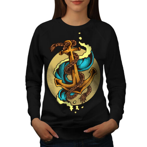 Marine Sweat Femme Noir Sea Nouveau Fashion Anchor bf76vIgYy