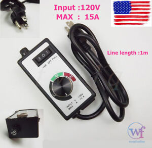 Newest For Router Fan Variable Speed Controller Electric Motor Rheostat AC 120V  719897710489
