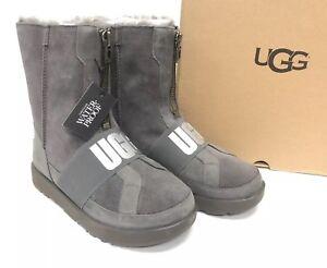 373e99e14e4 Details about Ugg Australia Conness Waterproof 1098373 Charcoal Boots Zip  Front Streetwear